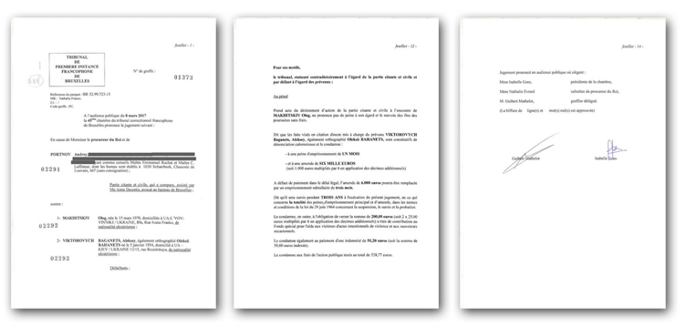 Для ознайомлення з текстом вироку кримінального суду Бельгії натисніть на зображення.